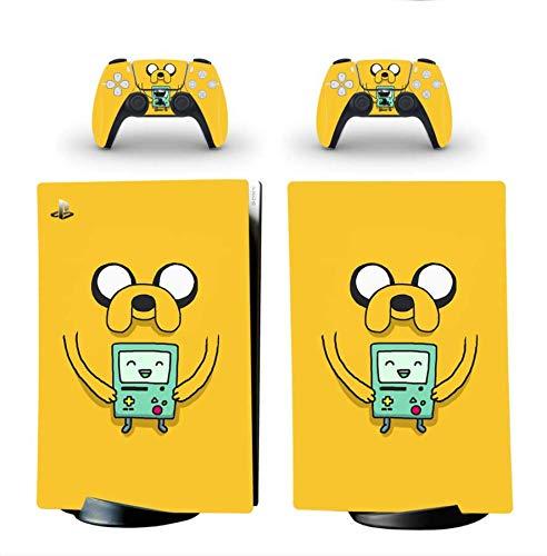 Pegatina Para Playstation 5 Edición Digital y 2 Controladores - Diseño Hora de Aventuras