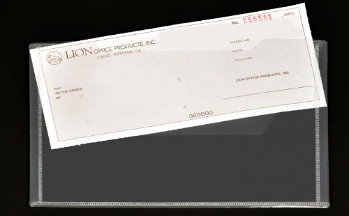 Lion Design-R-Line Poly Envelope with Extra Pocket, 6 x 9 Inches, Clear, Pack of 6 (92000-CR-6P)
