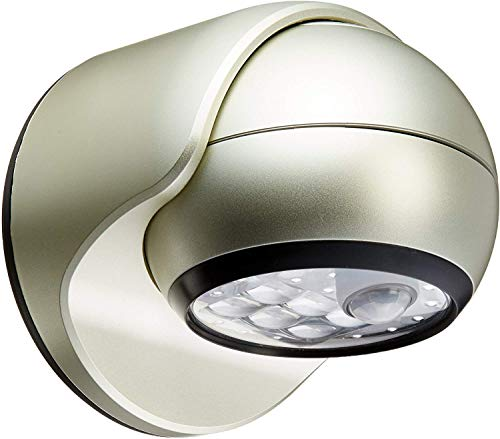 LIGHT IT! by Fulcrum 20031-101 6-LED Wireless Motion Sensor Security Porch Light, Single, Silver