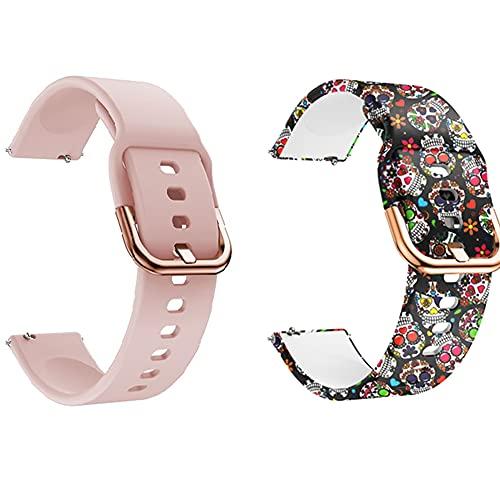 ID205L - Correa de reloj inteligente ID205L, correa de silicona, reloj inteligente, 19 mm, 0,4 en malla de acero inoxidable, ID205G, ID205 ID205U ID205S