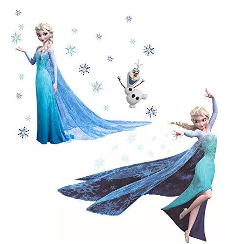 Polly Online 2 Piezas Vinilos Congelados La Princesa de Hielo Pegatinas de Pared para habitación de niños