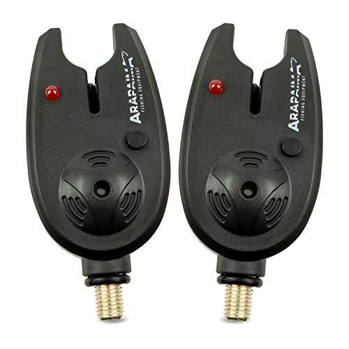 Arapaima Fishing Equipment® elektronische Bissanzeiger \'Basic\' | Bite Indicator | Bissalarm zum Karpfen-Angeln - Schwarz - 2 Stück