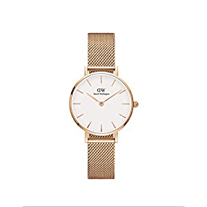 Daniel Wellington Petite Melrose – Reloj de Malla para Mujer (Oro