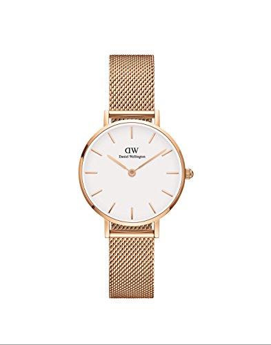 Daniel Wellington Damen Analog Quarz Uhr mit Edelstahl Armband DW00100219