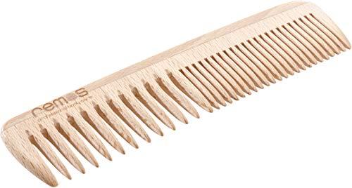 REMOS Haarkamm aus hochwertigem heimischem Buchenholz 19 cm mittel/feine Zahnung