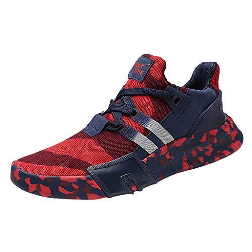 MONDHAUS Sportschuhe Herren Laufschuhe Herren Turnschuhe Freizeitschuhe Atmungsaktiv Sneakers Mode Straßenlaufschuhe Camouflage vielseitige Sportschuhe Laufschuhe Freizeitschuhe