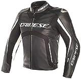 Dainese Veste Moto Misano D-Air Veste en Cuir Noir/Blanc 54, Unisexe, Sportler, Toute l'année