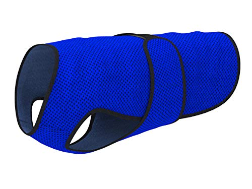 Dog Cooling Vest. Lightweight Jacket with Evaporative Cool Microfiber Technology, UV Protection Shirt, Sizing for Small, Medium and Large Dogs (M, Dark Blue)