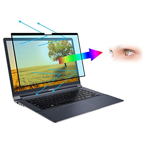 HOVERLY Reusable Anti Blue Light Screen Protector, Anti Glare Filter Film Eye Protection for Surface Pro/Surface Book/Surface Laptop Pro X,Clear,15''(327 * 227) mm