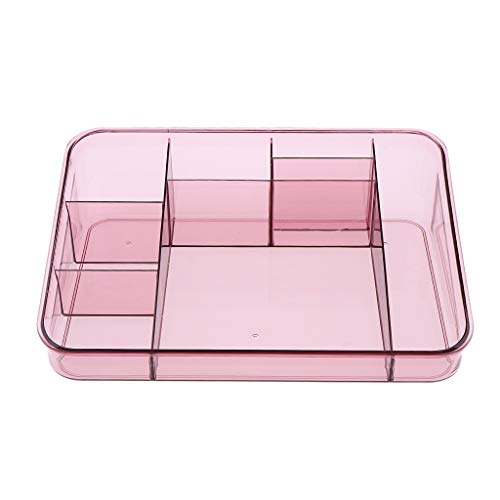 Make Up Pinsel Werkzeuge Organizer Kosmetik Halter Arbeitsplatte Aufbewahrungsbox Klar Schmuck Vitrine Badezimmer Schlafzimmer Waschtisch - Rosa