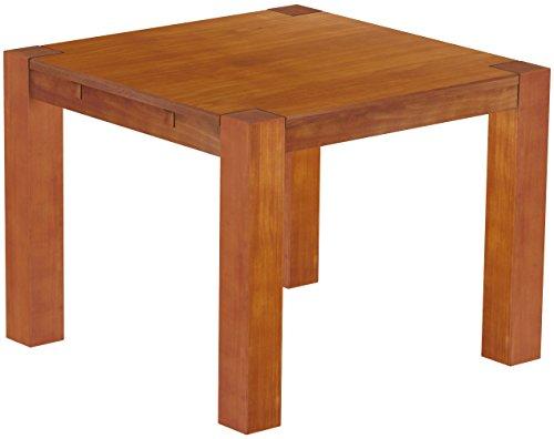 Brasilmöbel Esstisch Rio Kanto 100x100 cm Kirschbaum Pinie Massivholz Größe und Farbe wählbar Esszimmertisch Küchentisch Holztisch Echtholz vorgerichtet für Ansteckplatten Tisch ausziehbar