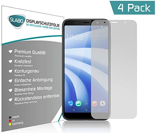 Slabo 4 x Bildschirmschutzfolie für HTC U12 Life Bildschirmfolie Schutzfolie Folie Zubehör No Reflexion MATT