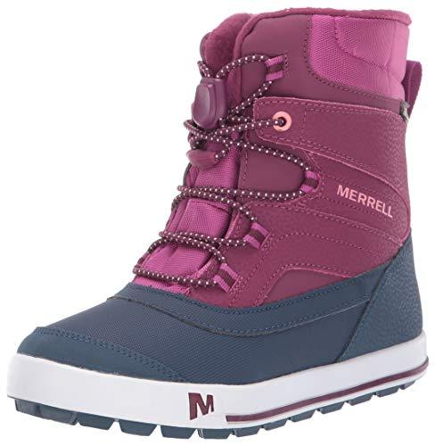 Merrell Kids' Unisex Ml-Snow Bank 2.0 Wtrpf Snow Boot, Berry, 11.0 M US Toddler