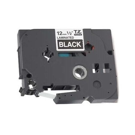 Nastro laminato Compatibile per Brother P-Touch TZ 12mm x 8m TZe-335 TZ-335 Bianco su Nero