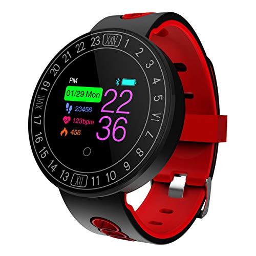 LI DANNA Reloj Inteligente,Multifunción Negocio Trabajo Smartwatch Impermeable Pulsera Actividad Control Remoto para Deporte Reloj de Fitness con Podómetro Cronómetros,Red