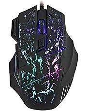 ماوس سلكي ضوئي للالعاب مريح في الامساك مع زر اطلاق بدقة 5500 نقطة لكل انش قابلة للتعديل مع 7 ازرار قابلة للبرمجة مناسب للكمبيوتر