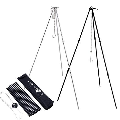 Trípode portátil para picnic al aire libre camping hoguera triángulo soporte marco utensilios de cocina utilidad para usar