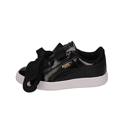 Puma Basket Heart Glam PS, Zapatillas Unisex Niños, Negro (Black-Black), 28 EU