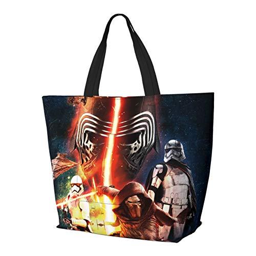 Star Wars Bolso de mano con asa de hombro, estilo simplicidad, gran capacidad, bolsa de compras, gimnasio, playa, viajes, diario, unisex, plegable