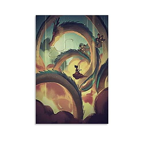 xingqier Dragon Ball Z Super Dbz Toile Poster et Art Mural Impression Moderne Famille Chambre Décoration Poster 20 x 30 cm