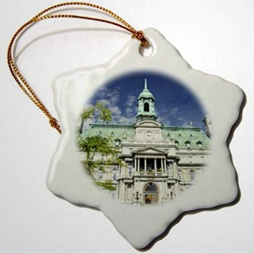 BYRON HOYLE Quebec Montreal Jacques Cartier Square Snowflake Ornament Porcelain Christmas Ornaments Pandemic Xmas Decor Wedding Ornament Holiday Present
