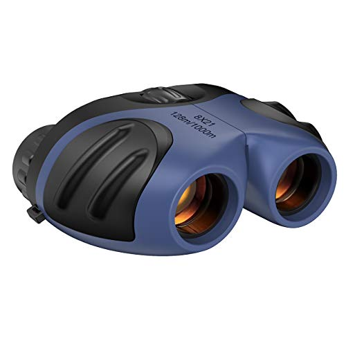 ATOPDREAM Kids Binoculars, Compact Binocular for Boys Age 3-12 Kids Explorer Toys for 3-12 Years Girls Boys Best Halloween for 3-12 Year Old Boys Stocking Stuffers Fillers Navy Blue
