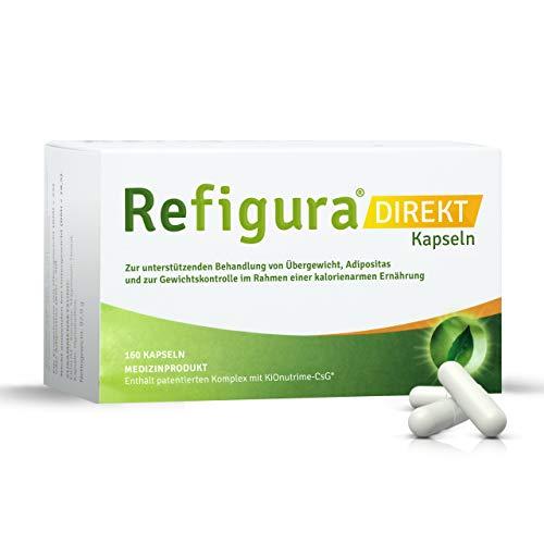 Refigura Direkt: Appetitzügler zum Abnehmen/zur Gewichtskontrolle, pflanzlich, vegan & bio, Kapseln, 2x 160 Stk.
