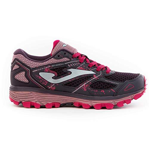 Joma TK.Shock Zapatillas Trail-Running para Mujer (Morado, 36)