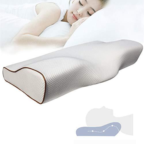 Butterfly Cervical Contour Pillow, Slow Rebound Memory Foam Met Kussensloop Nek- En Schoudersteunkussen, Geschikt Voor Elke Slaaphouding