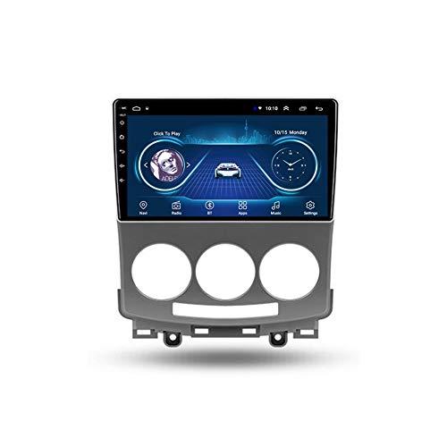 Foof Autoradio Coche Bluetooth 2 DIN Android Radio De Coche 9'' Pantalla Táctil WiFi Plug and Play Completo RCA SWC Soporte Carautoplay/GPS/Dab+/OBDII para Mazda 5 2005-2010,Quad Core,WiFi 1G+16G