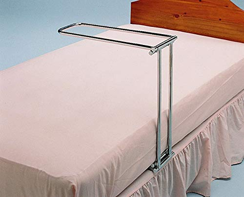 Days Chrome Folding Bed Cradle Assist, Holds Bedclothes Off Legs, Feet, Knees, & Pressure Sores, Holds Sheets, Blankets & Covers Weight While Sleeping or Resting, For Elderly, Injured, Disabled
