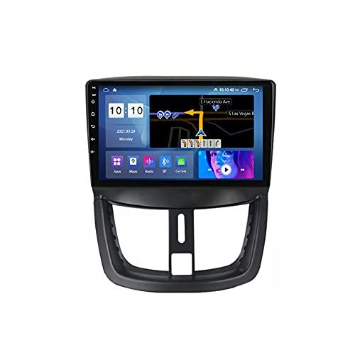 MGYQ Android 10.0 Radio De Coche Pantalla Táctil HD De 9 Pulgadas Soporte Control del Volante Carplay FM DSP 4G LTE WiFi Cámara Trasera para Peugeot 207 2006-2015 Car Radio,M200s