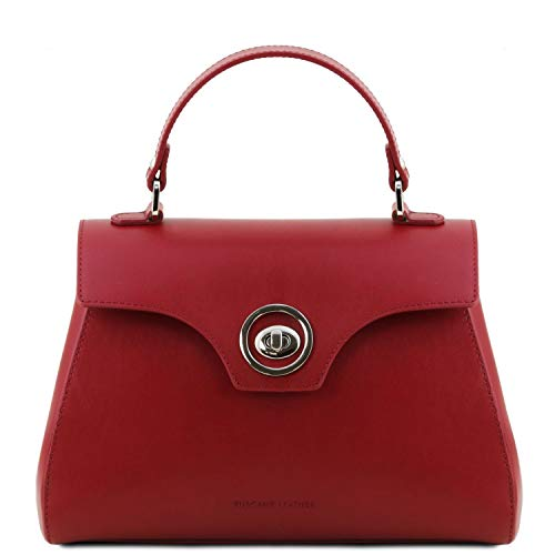 Tuscany Leather TLBag Bauletto Tasche aus Leder Rot