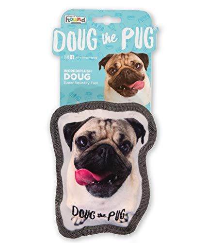Outward Hound Doug The Pug Incrediplush Squeaky Dog Toy