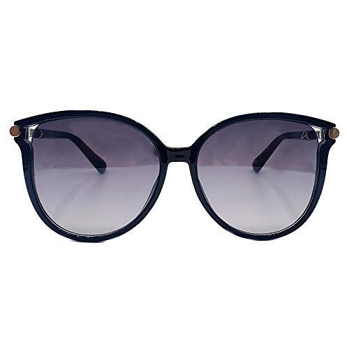 Oculos Sol Feminino Autentic gatinho preto dourado couro