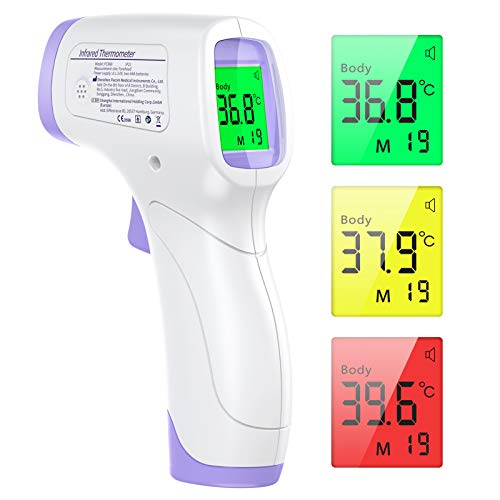 Infrared Thermometer Non-Contact Forehead Thermometer for Fever JOYSKY Medical Digital Thermometer Suitable for Baby and Adult Indoor and Outdoor Use with Instant Read