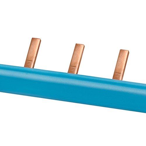 SIEMENS Ingenuity for life - Barra colect clavija, monofas 10 mm2, 13 clavijas, aisl azul