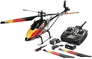 XuBa Wltoys V913 Brushless 2.4G 4CH Single Blade Built-in Gyro Super Stable Flight High Efficiency Motor RC Helicopter EU Remote Control