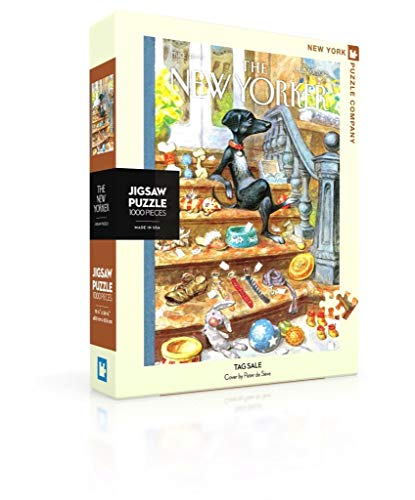 New York Puzzle Company - New Yorker Tag Sale - 1000 Piece Jigsaw Puzzle by New York Puzzle Company