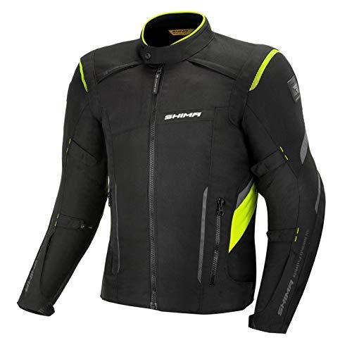 SHIMA Veste de moto Rush Jacket pour homme Fluo, 3 couches avec protections (fluo, XXL)