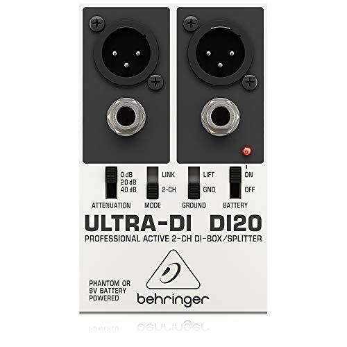 Behringer Ultra-DI DI20 Professionelle 2-Kanal Aktiv-DI-Box/Splitter