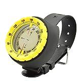 TYYW Brújula, brújula subacuática Profesional de Buceo 50M brújula Impermeable Navigator Reloj Digital de Buceo con la brújula para la natación Buceo con escafandra,Amarillo