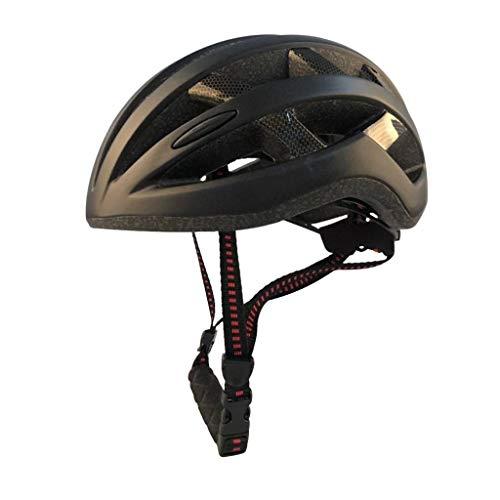 Flyrrr Bike Magnetic Belt gogglesBicycling Helmet 58-63cm Lightweight Skate Rennrad Helm Spezialisiert for Herren Damen Kinder Jungen Mädchen Sicherheitsschutz (Color : Black Gold)