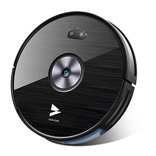 Saugroboter WLAN Hosome 2000PA Staubsauger Roboter mit Wischfunktion, App & Alexa Steuerung, Selbstaufladung, 300ML elektrischer Wassertank, für Tierhaare, Teppiche, Hartböden