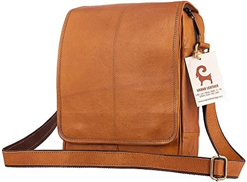 Urban Leather 30,5 cm vertikale Kuriertasche für Männer und Frauen, kurze Reisetasche für Teenager, Jungen, Mädchen, sie und sie