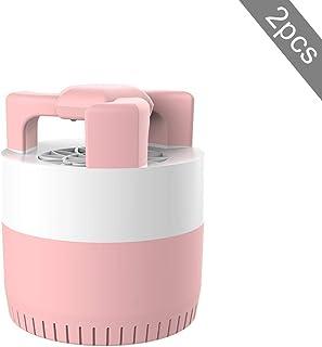 BZLEK Silencio Casa UV Lámpara Anti Mosquitos, LED Lámpara Mosquito Killer con Fuente De Alimentación USB, Seguro Sin Sustancias Nocivas, Efectivamente Reductor Interior Insectos Voladores,Rosado