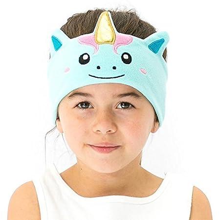 CozyPhones Over The Ear Headband Headphones - Kids Headphones Volume Limited with Thin Speakers & Super Soft Stretchy Headband - Mystic Unicorn
