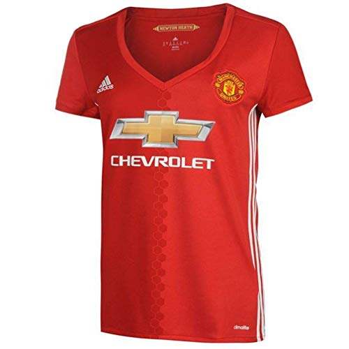 adidas Women's Manchester United 16/17 Home Real Red/White Jersey (2XS)