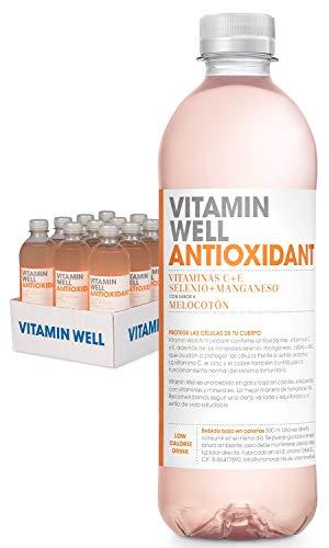 VITAMIN WELL ANTIOXIDANT 12 x 500ml Una alternativa moderna, más sana y refrescante que los refrescos y zumos azucarados