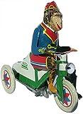 CAPRILO Juguete Decorativo de Hojalata Mono Triciclo Réplicas de Vehículos de...